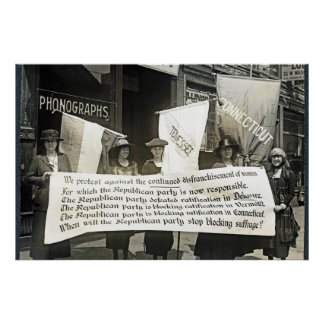 Suffragists (NWP) Protest Republicans, 1920 Posters