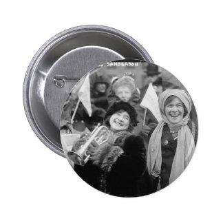 Suffragists Rose Sanderman and Elizabeth Freeman 2 Inch Round Button