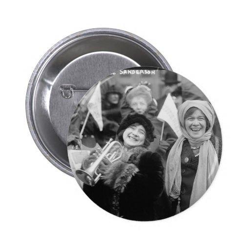 Suffragists Rose Sanderman and Elizabeth Freeman Pin