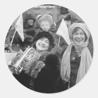 Suffragists Rose Sanderman and Elizabeth Freeman Classic Round Sticker