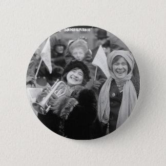 Suffragists Rose Sanderman and Elizabeth Freeman Pinback Button
