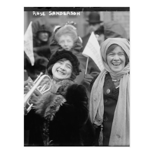 Suffragists Rose Sanderman and Elizabeth Freeman Post Card