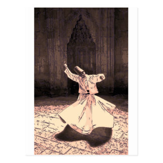 sufi master in trance postcard