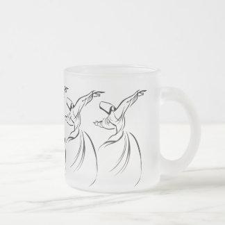 Sufi Meditation (Black) 10 Oz Frosted Glass Coffee Mug