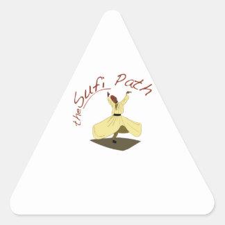 Sufi Path Triangle Sticker