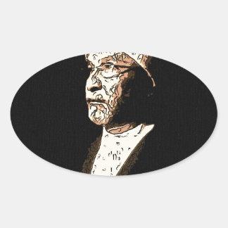 sufi sheik oval sticker
