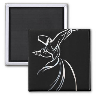 Sufi Whirling 2 Inch Square Magnet