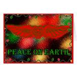 Sufi Winged Heart Peace on Earth Card