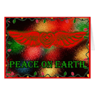 Sufi Winged Heart Peace on Earth Card