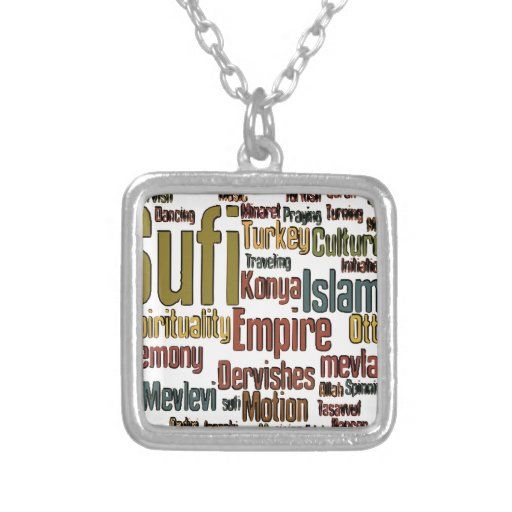 Sufi Word tag cloud Jewelry