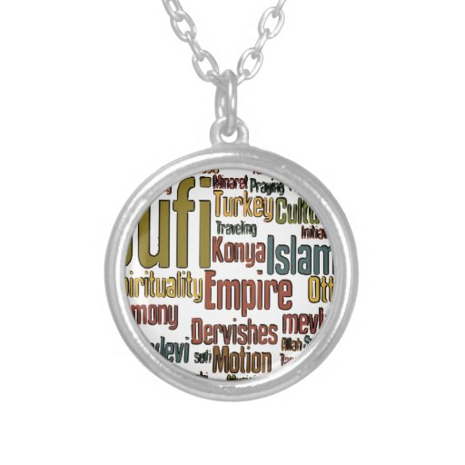 Sufi Word tag cloud Necklaces