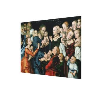 Sufra a los pequeños niños para venir a mí, 1538 impresiones en lona estiradas