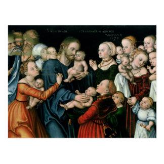 Sufra a los pequeños niños para venir a mí, 1538 tarjetas postales