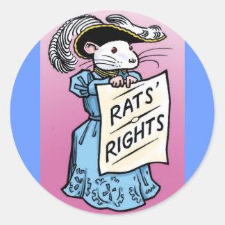 Sufragette Rat! Classic Round Sticker