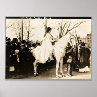 Sufragio americano nacional Assoc de la mujer. Des Posters
