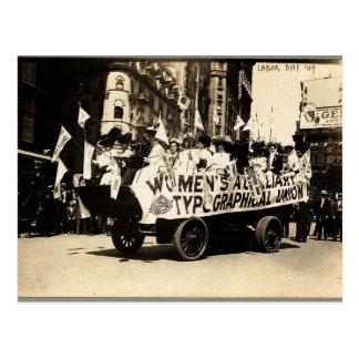 Sufragio del flotador de Nueva York 1909 del Postal
