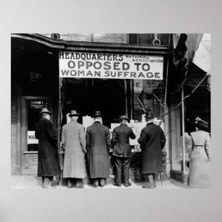 Sufragio Group, 1911 de la Anti-Mujer Póster