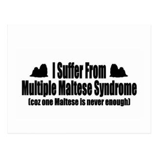 Sufro de síndrome maltés múltiple tarjeta postal