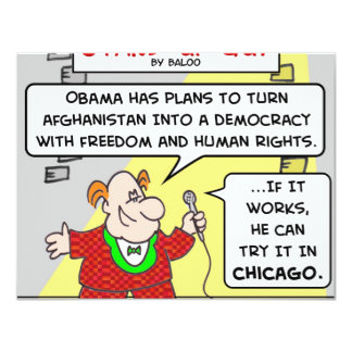 SUG obama democracy afghanistan chicago Card