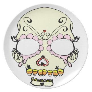 Suga Skull Candy Art Melamine Plate