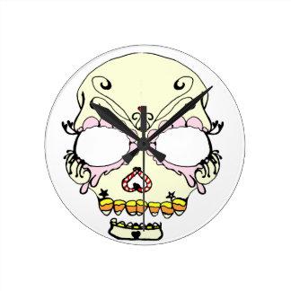 Suga Skull Candy Art Wall Clock