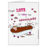 sugalumps forget love I'd rather fall in chocolate Card