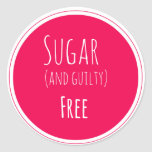 sugar and guilty free sticker