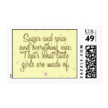 Sugar and spice and everything nice stamp