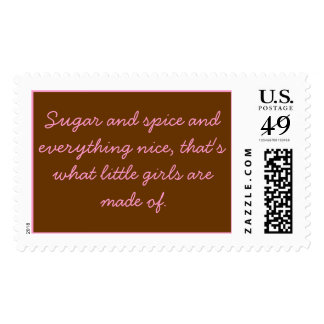 Sugar and spice and everything nice, that's wha... postage stamps