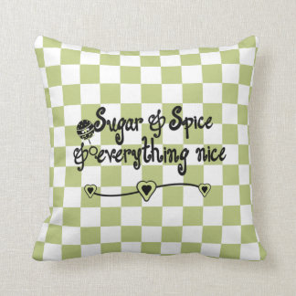 Sugar and Spice Baby Room Pillow