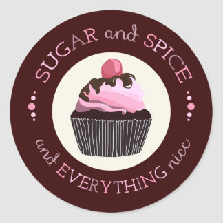 Sugar and Spice Baby Shower Favor Sticker