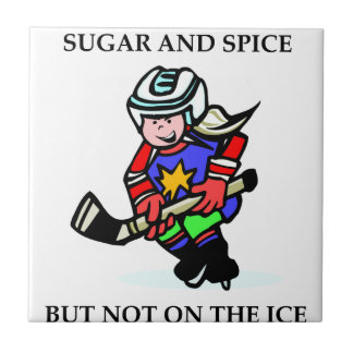Sugar and Spice but Not on the Ice Small Square Tile