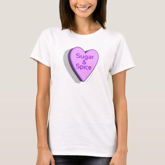 Sugar and Spice Candy Heart Shirt (Purple)