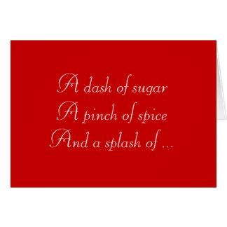Sugar and Spice Christmas Card