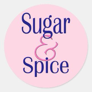 Sugar and Spice Classic Round Sticker