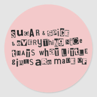 Sugar and Spice Classic Round Sticker