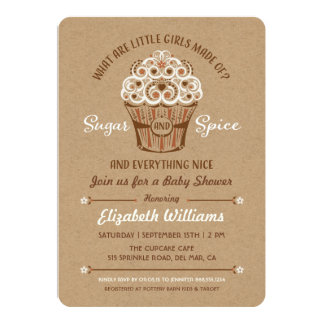 sugar and spice invitations & announcements | zazzle, Baby shower invitations