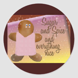 Sugar and spice gingerbread stickers
