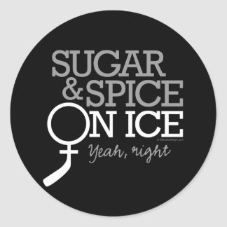 Sugar And Spice On Ice Round Stickers