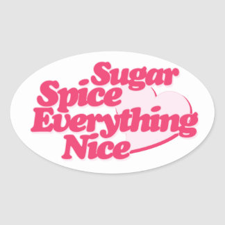 Sugar and Spice Oval Sticker