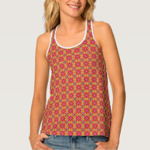 Sugar and Spice Pink and Green Mandala Pattern Tank Top