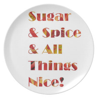 Sugar and Spice Red Plate