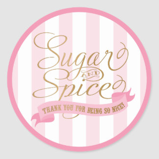 Sugar and Spice Round Stickers