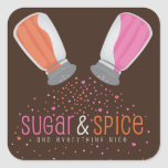 Sugar and Spice Shakers Baby Shower Stickers