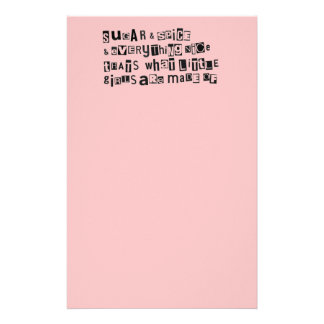 Sugar and Spice Stationery