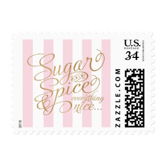 Sugar and Spice Themed Postage Card Stamps