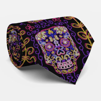 Sugar Art Skull Pattern Neck Tie