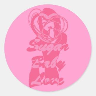 Sugar_Baby_Love Classic Round Sticker