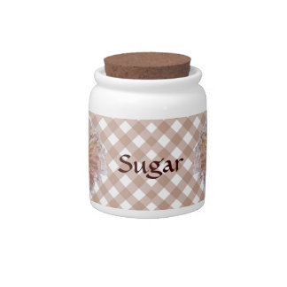 Sugar Bowl/Candy Jar - Palest Pink Zinnia Lattice Candy Jars