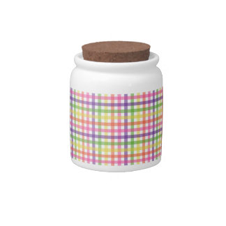 Sugar Bowl/Candy Jar - Plaid Painted Spider Mum Candy Jars